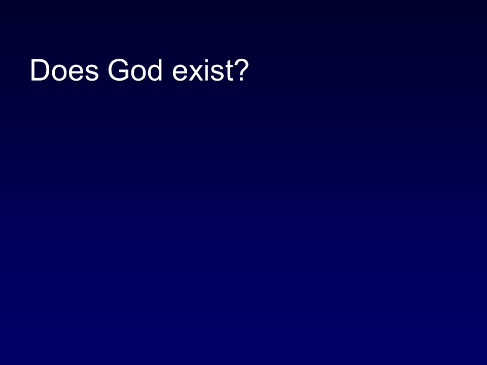 Does God exist
