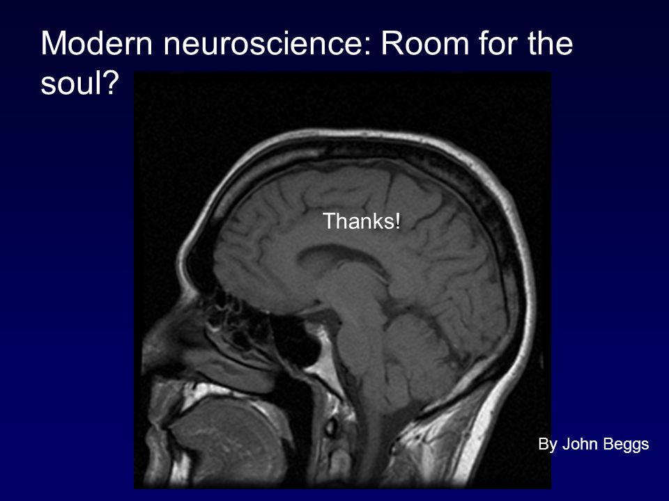 Modern neuroscience: Room for the soul