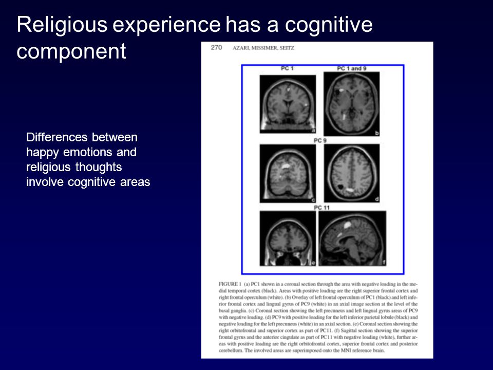 Religious experience has a cognitive component