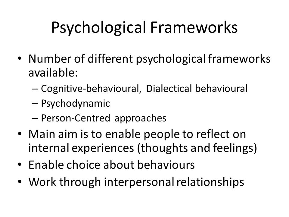 Psychological Frameworks