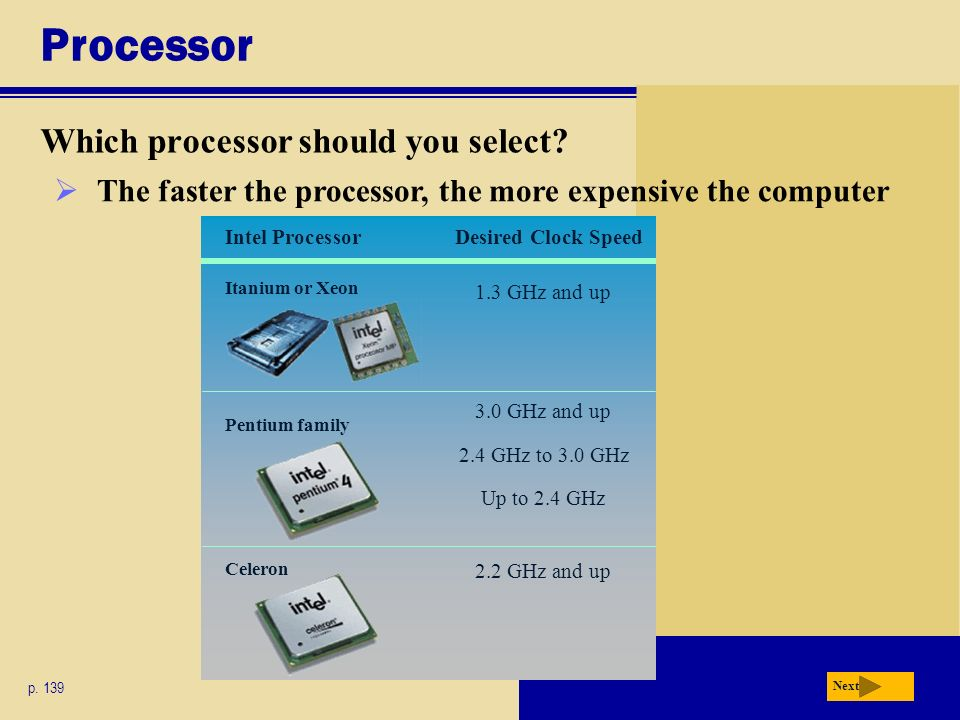 Processor Which processor should you select