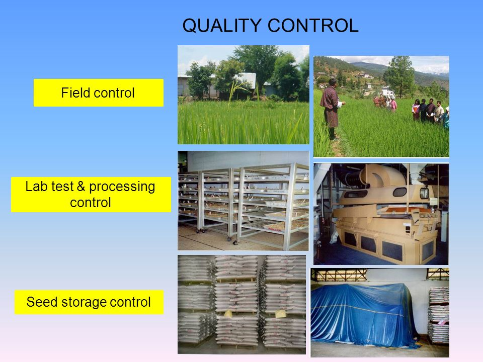 Lab test & processing control