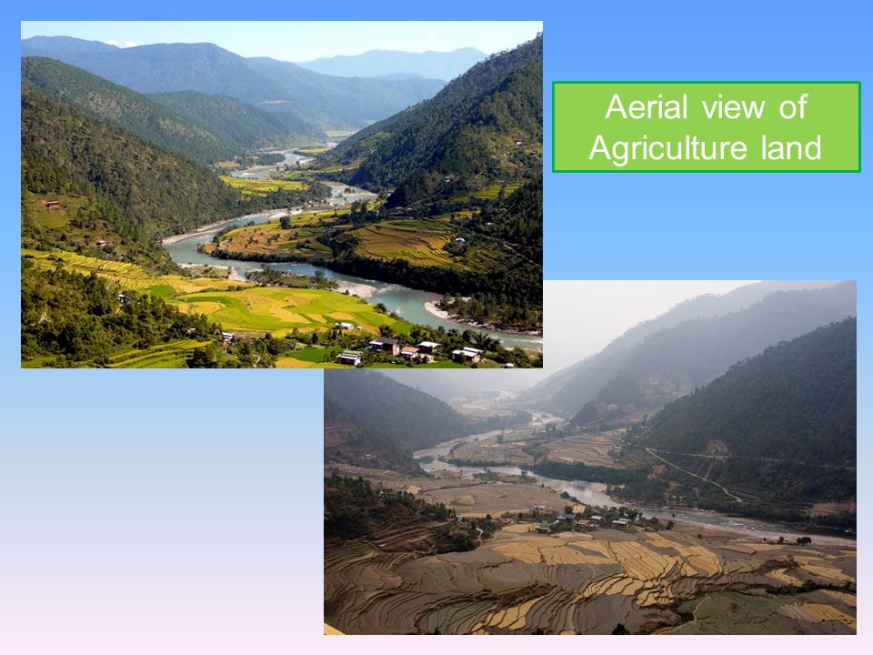 Aerial view of Agriculture land