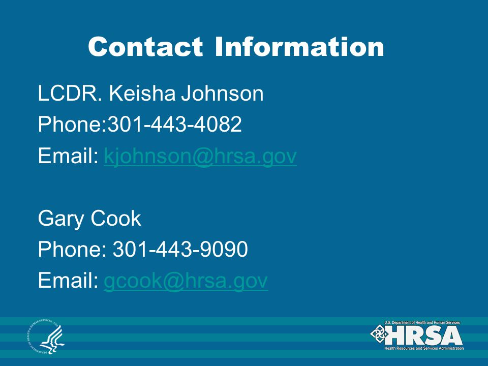 Contact Information LCDR.