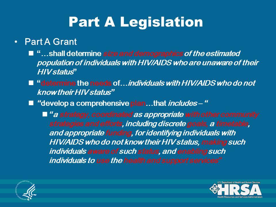 Part A Legislation Part A Grant