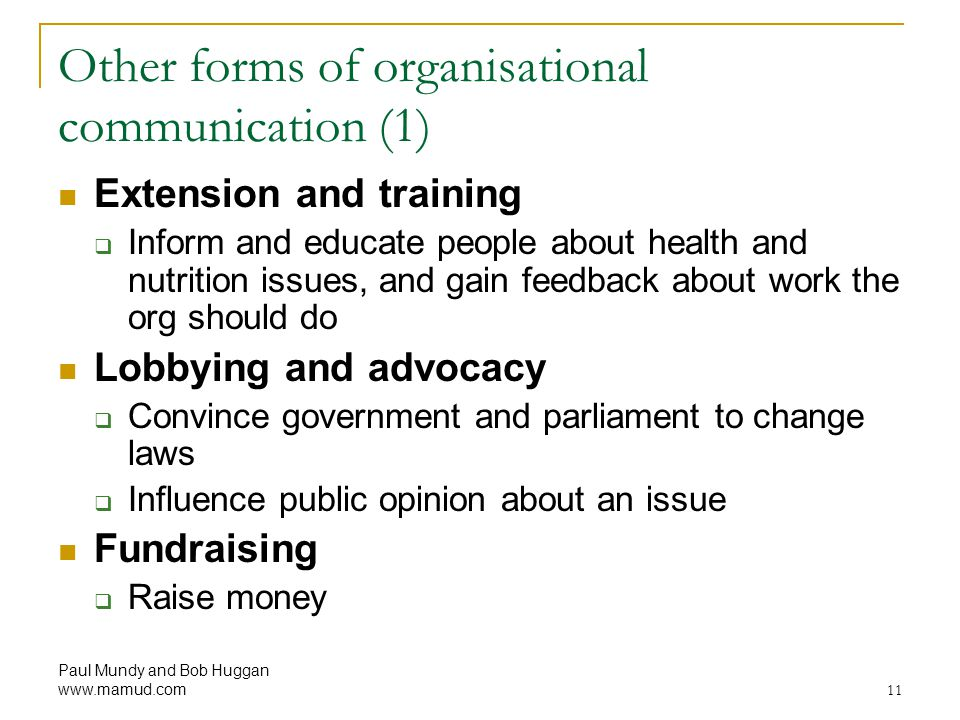 Other forms of organisational communication (1)