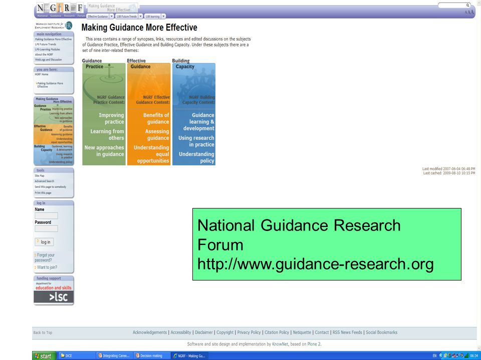 National Guidance Research