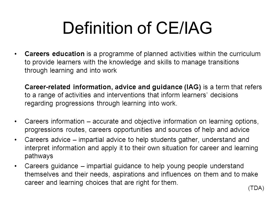 Definition of CE/IAG