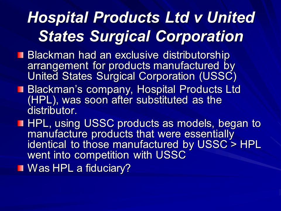 Hospital Products Ltd v United States Surgical Corporation
