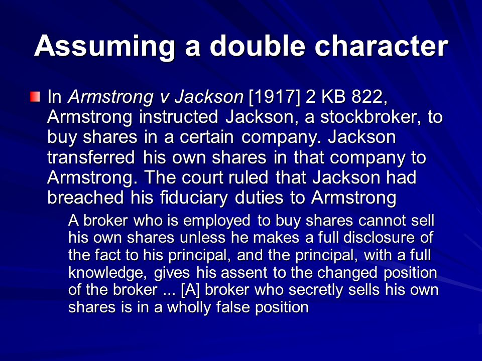 Assuming a double character