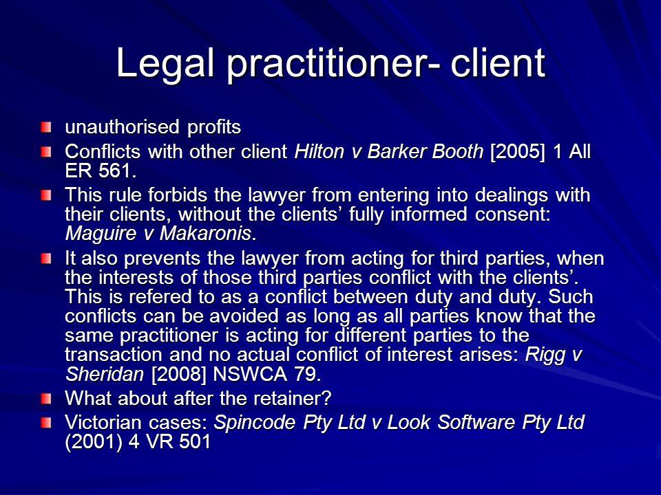 Legal practitioner- client