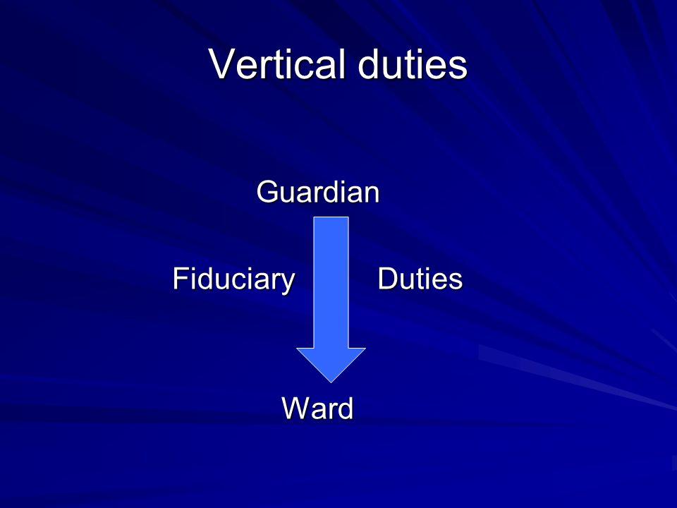 Guardian Fiduciary Duties Ward