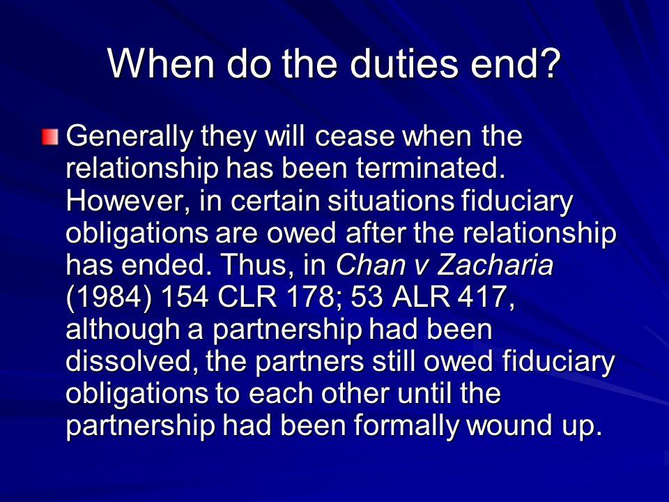 When do the duties end