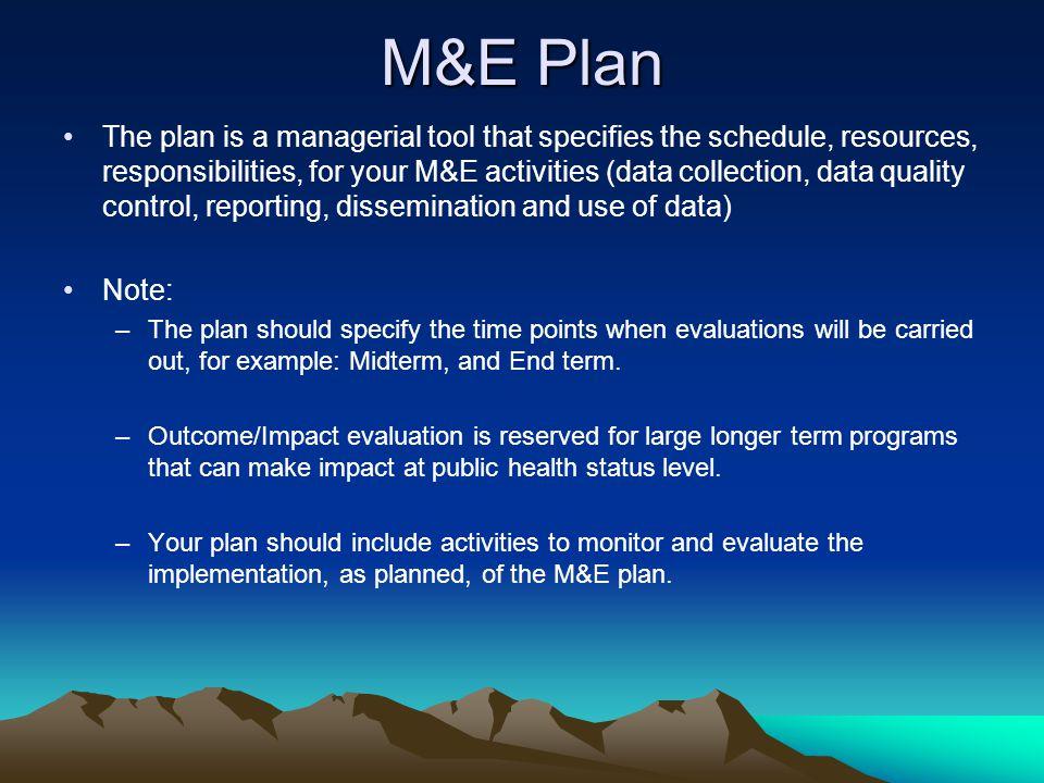 M&E Plan