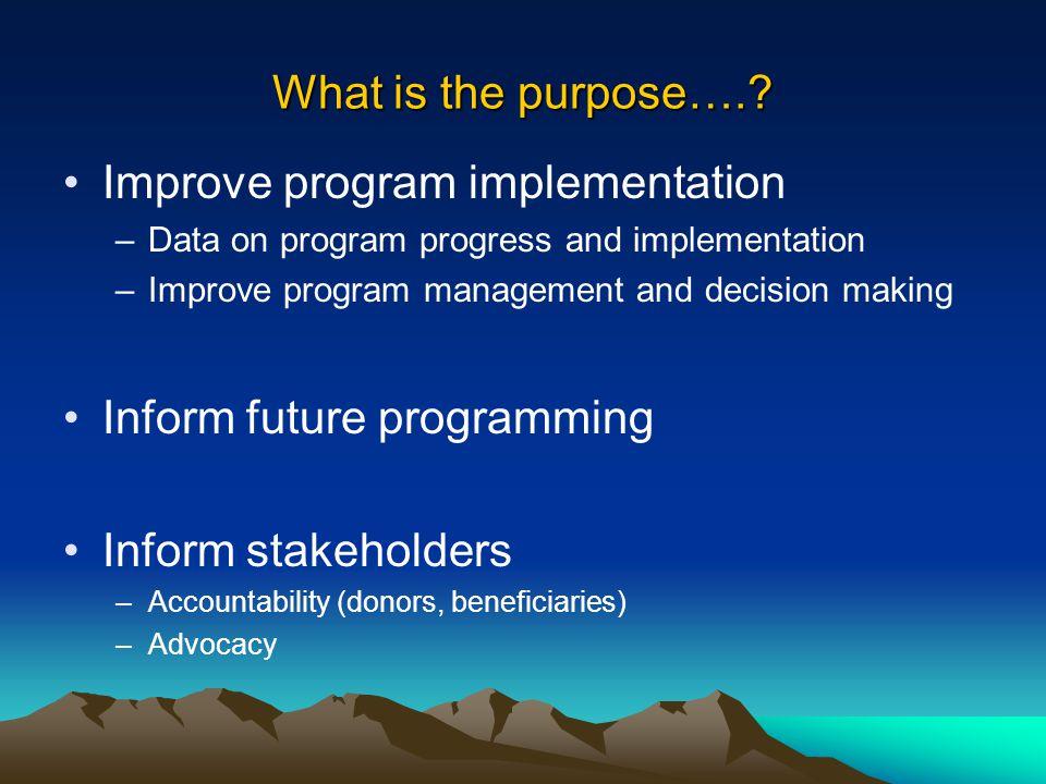 Improve program implementation