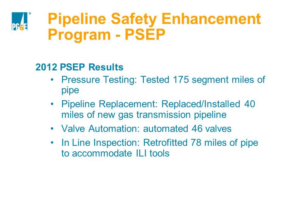 Pipeline Safety Enhancement Program - PSEP