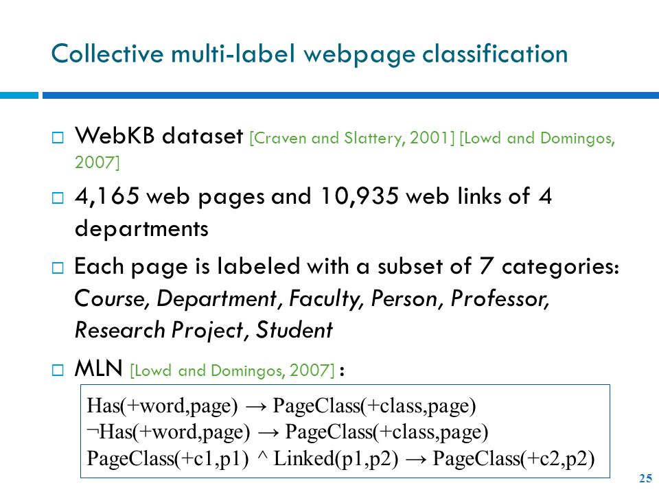 Collective multi-label webpage classification