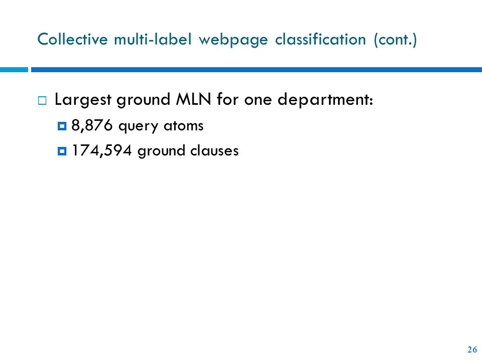 Collective multi-label webpage classification (cont.)