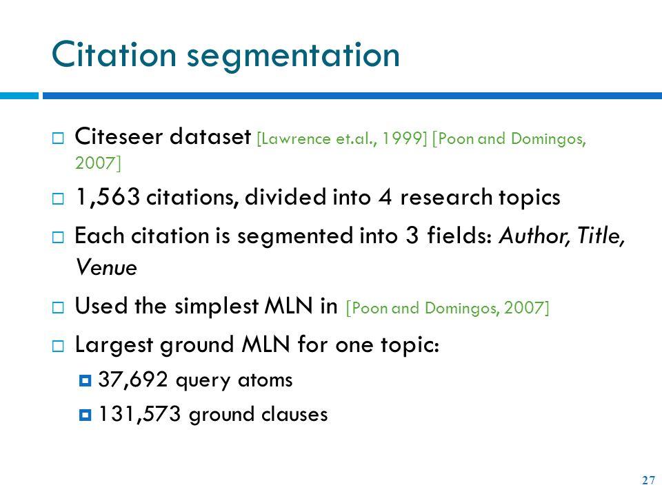 Citation segmentation