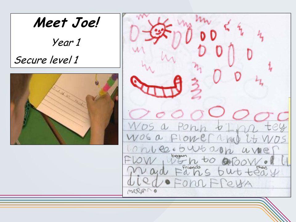 Meet Joe! Year 1 Secure level 1