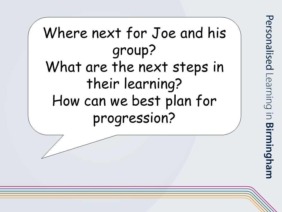 Where next for Joe and his group