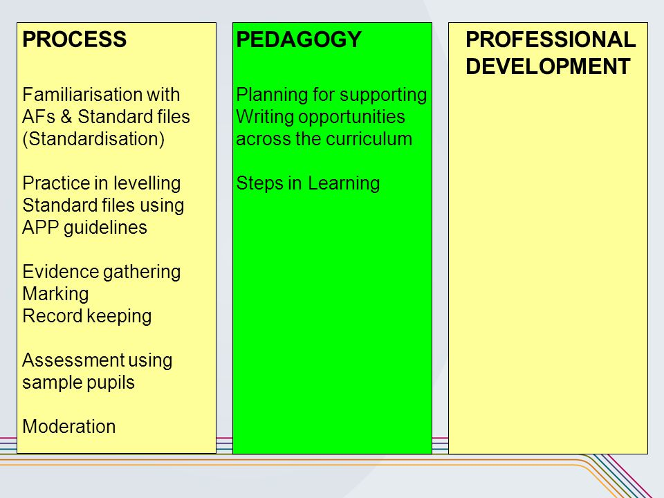 PROCESS PEDAGOGY PROFESSIONAL DEVELOPMENT