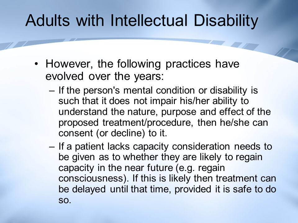 Adults with Intellectual Disability