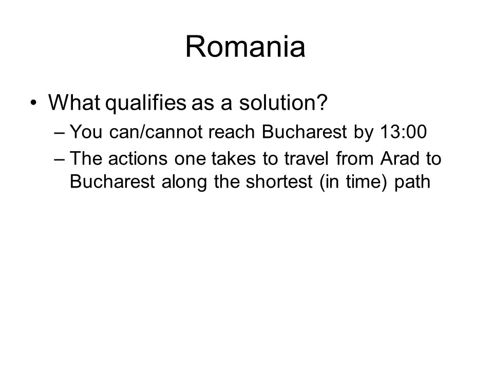 Romania What qualifies as a solution