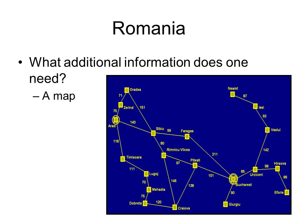 Romania What additional information does one need A map