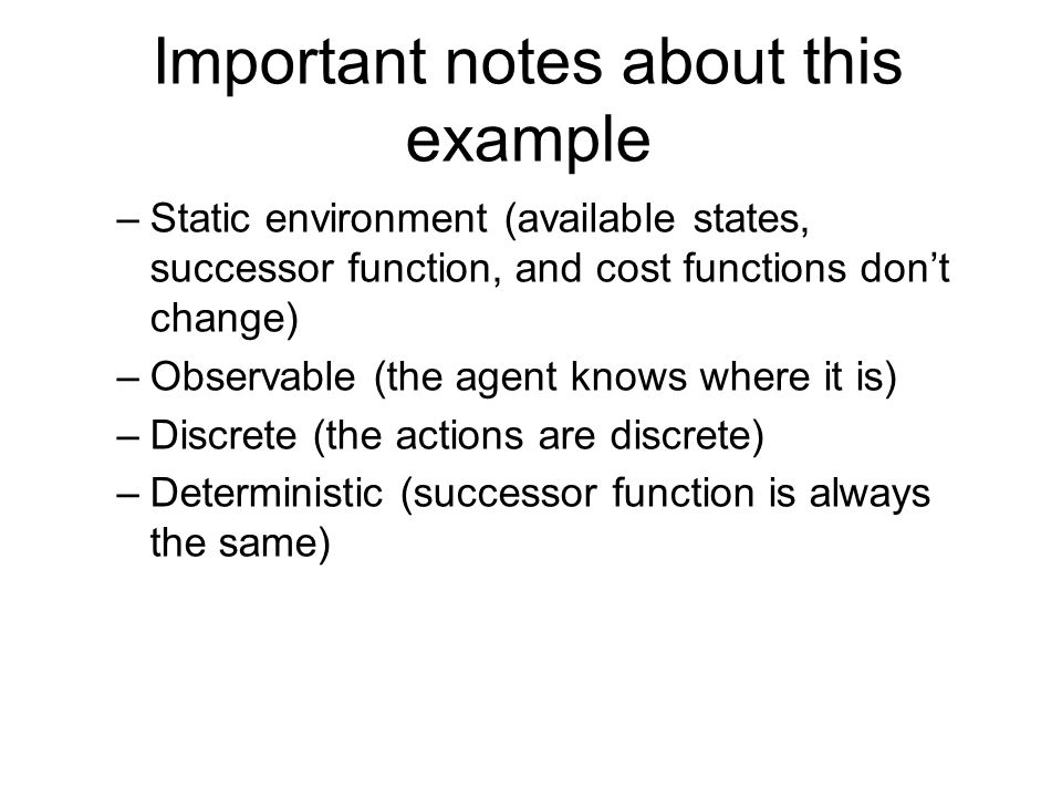 Important notes about this example