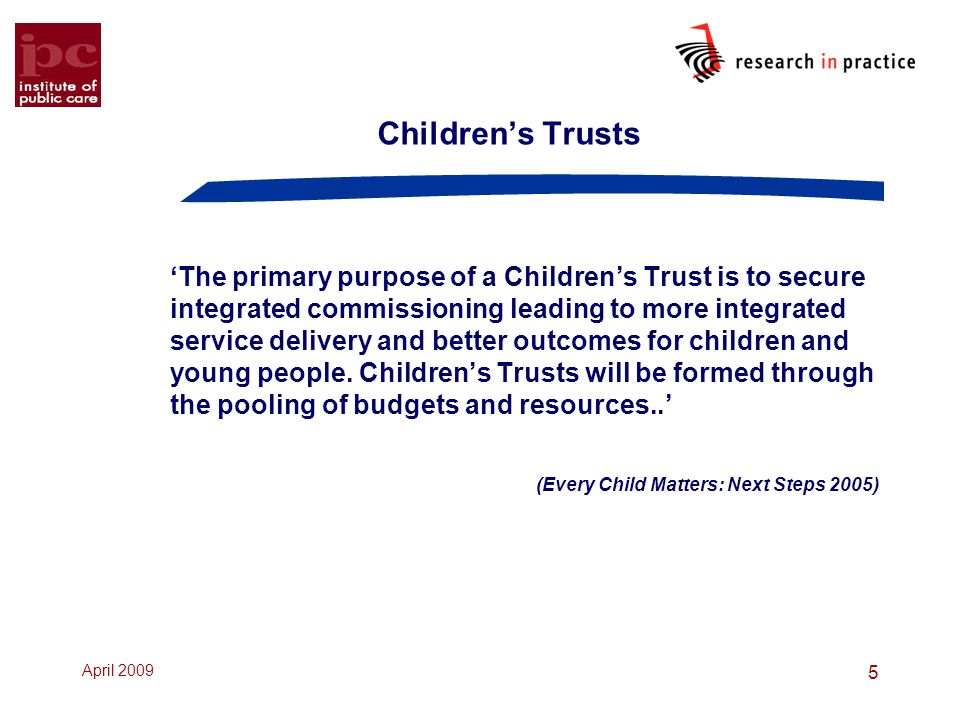 Children's Trusts