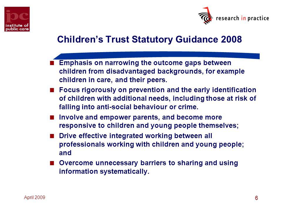 Children's Trust Statutory Guidance 2008