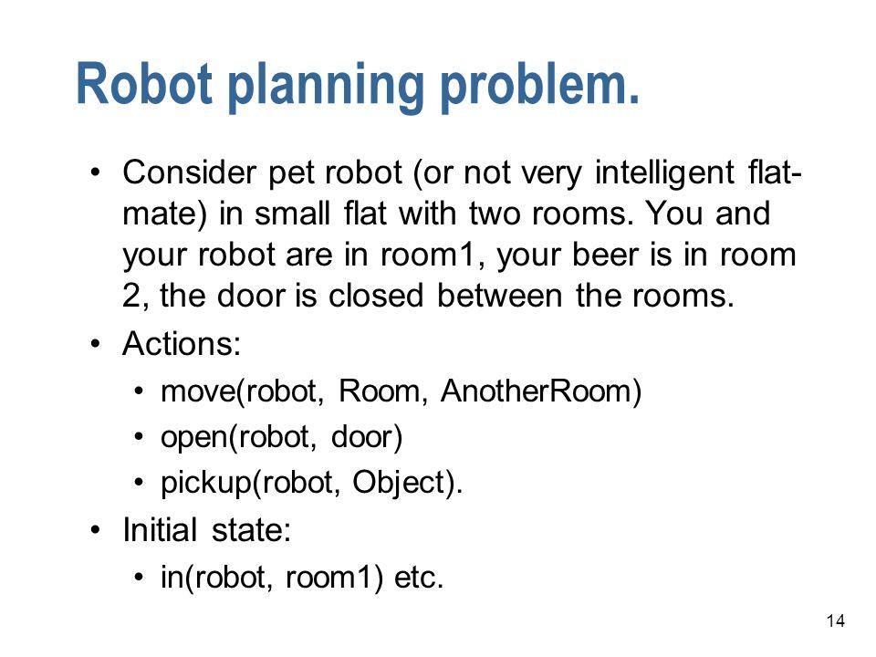 Robot planning problem.