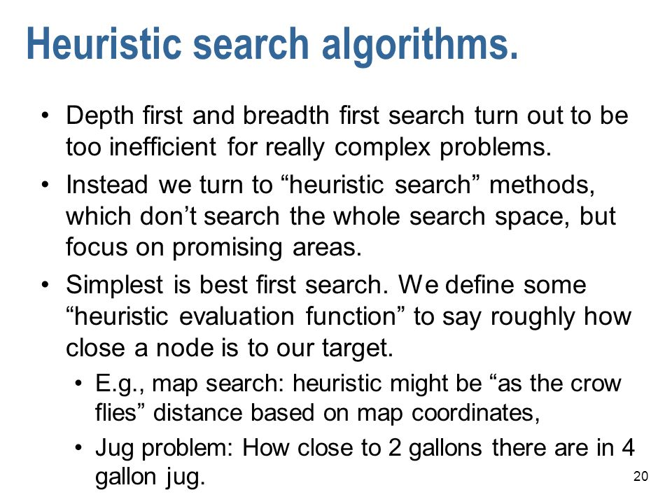 Heuristic search algorithms.