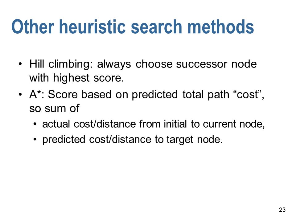 Other heuristic search methods