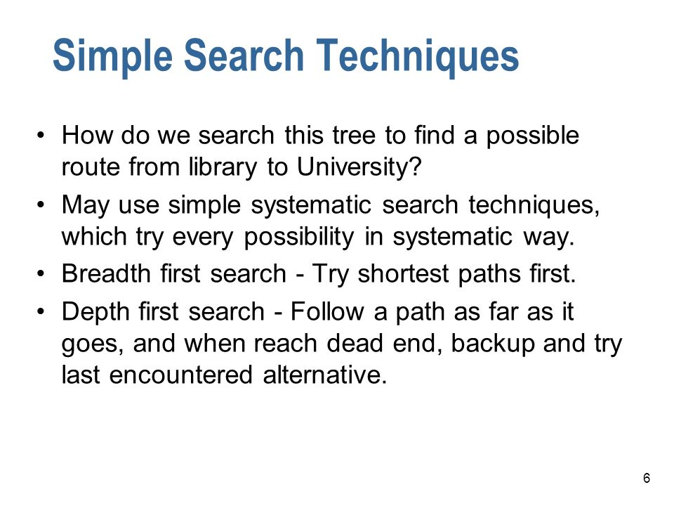 Simple Search Techniques