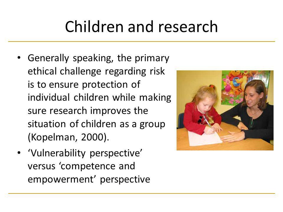 Children and research