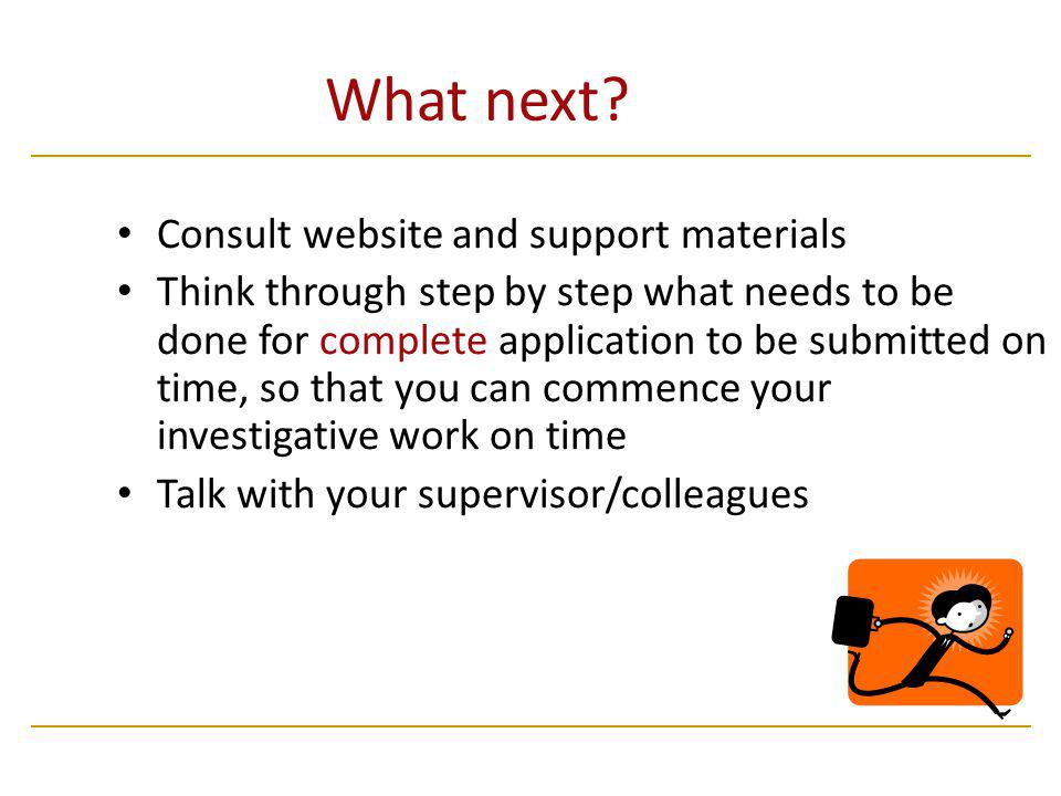 What next Consult website and support materials