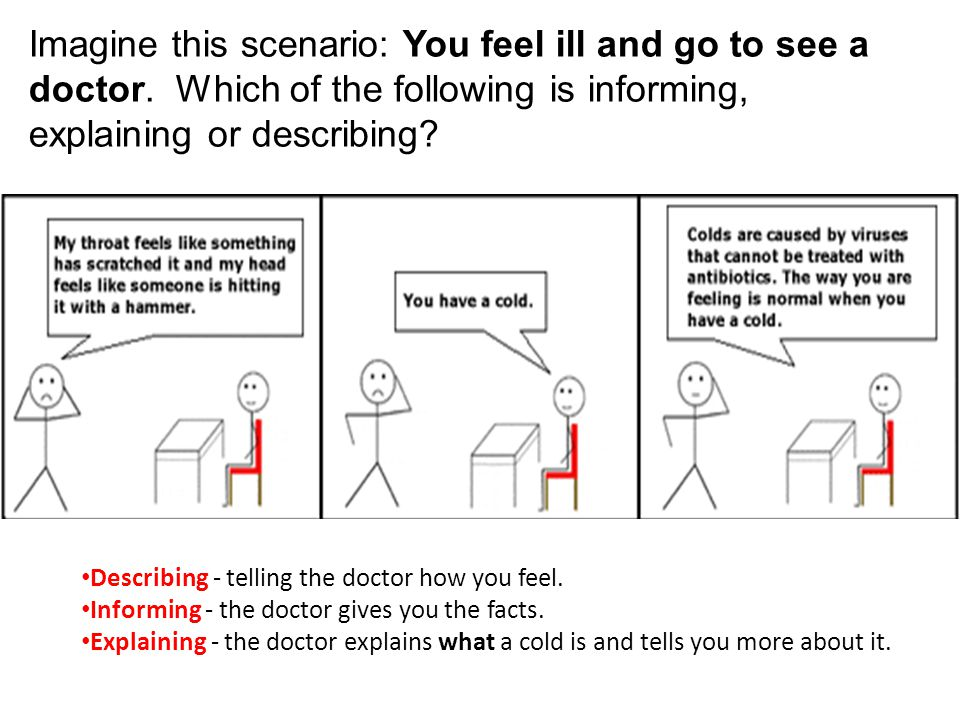 Imagine this scenario: You feel ill and go to see a doctor