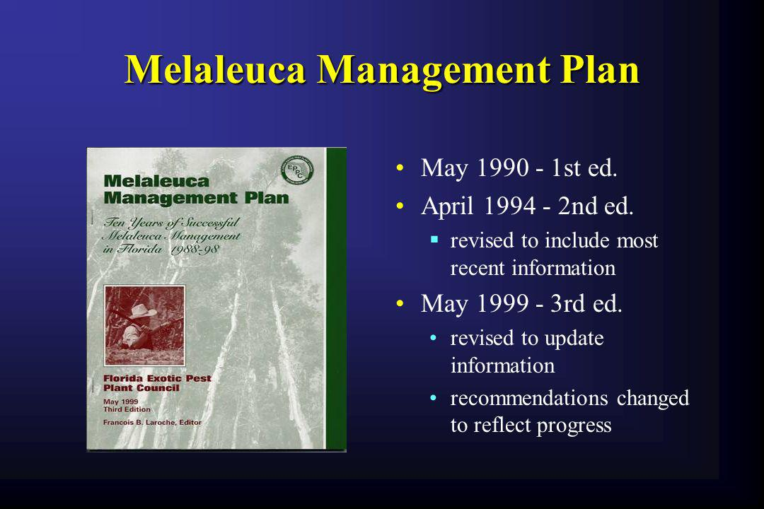 Melaleuca Management Plan
