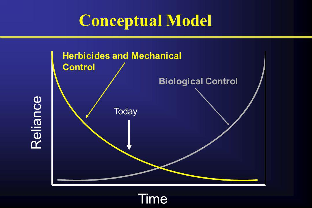 Conceptual Model Reliance Time Herbicides and Mechanical Control