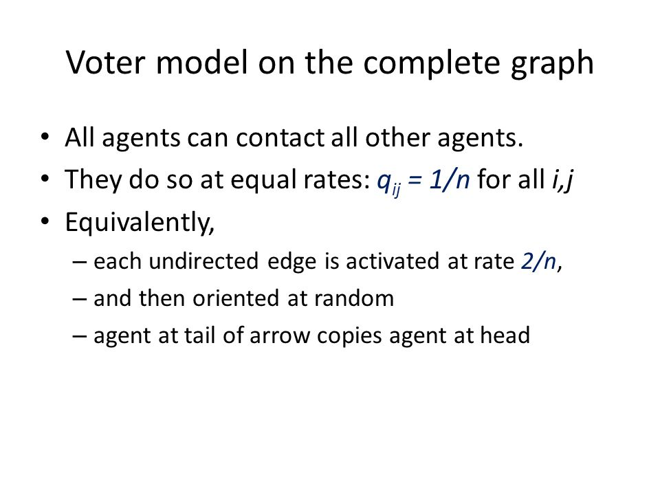 Voter model on the complete graph