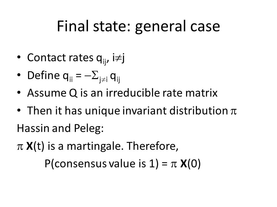 Final state: general case