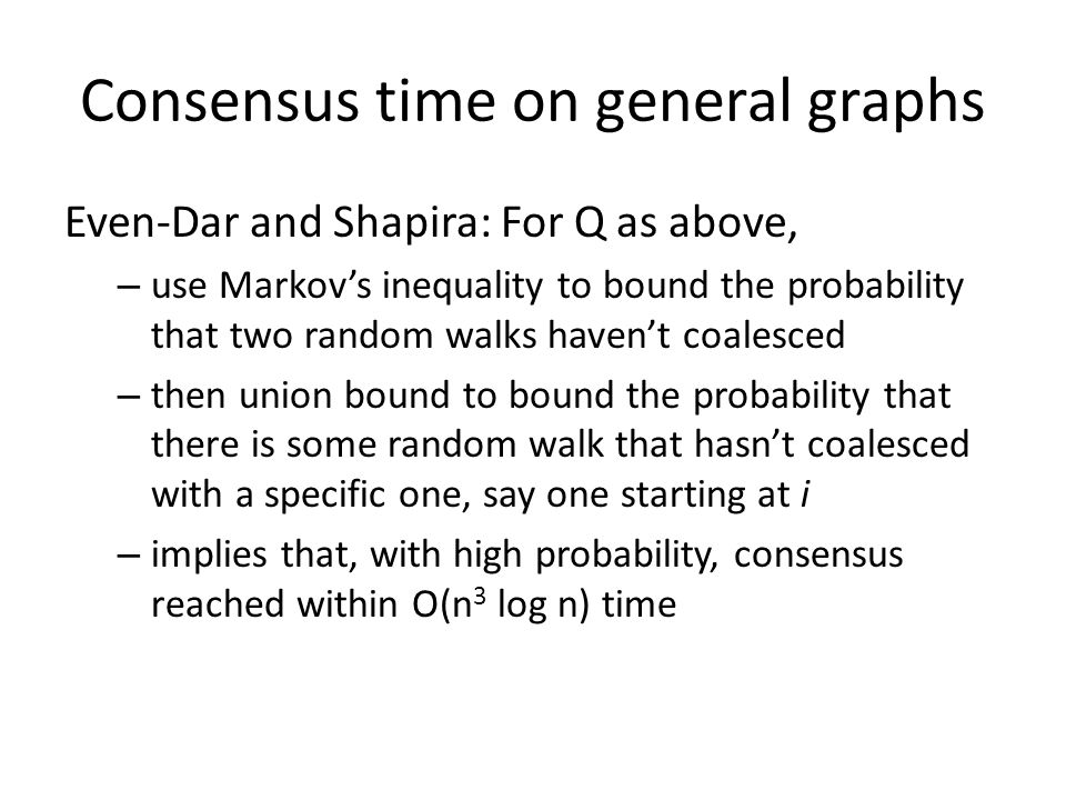 Consensus time on general graphs