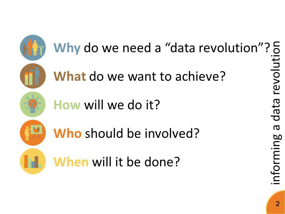 Why do we need a data revolution