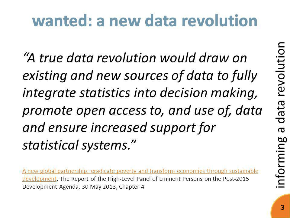 wanted: a new data revolution