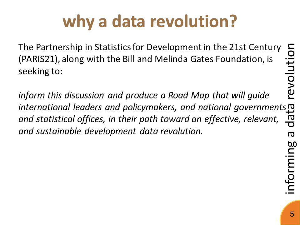 why a data revolution