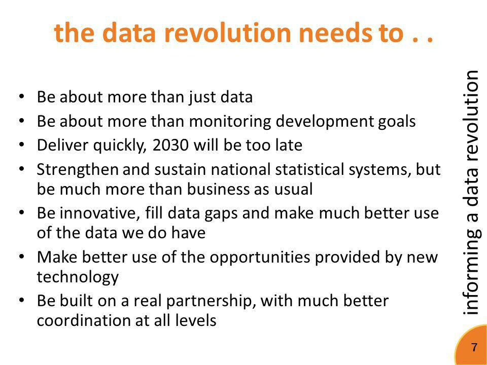 the data revolution needs to . .