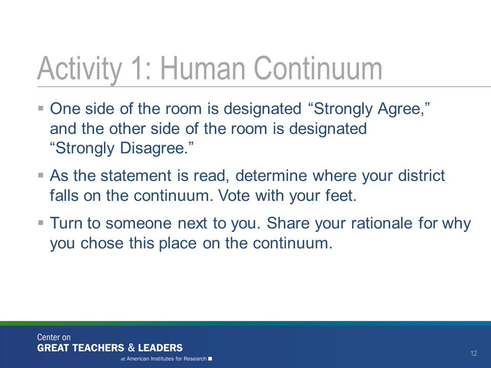 Activity 1: Human Continuum