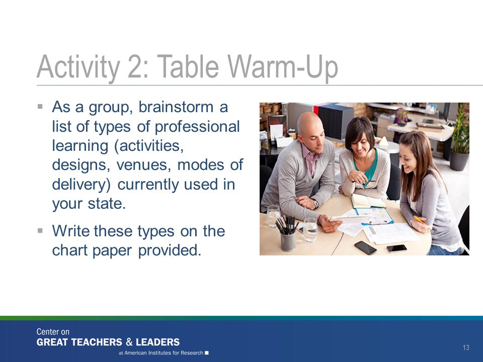 Activity 2: Table Warm-Up
